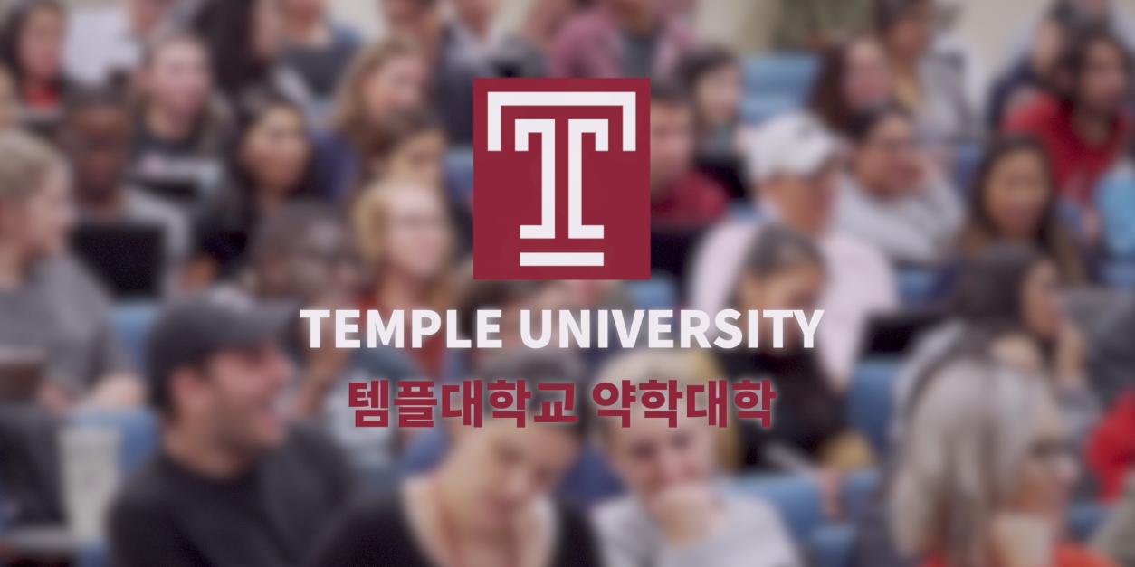 템플대학교 약대 소개